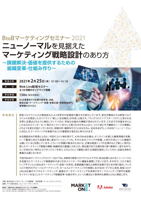 BtoBマーケティングセミナー2021